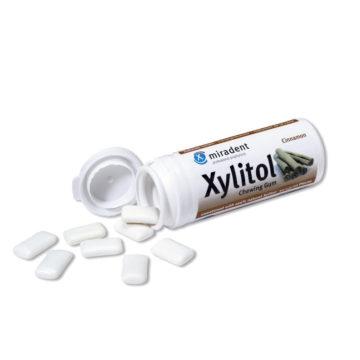 Xylitol žvečilni gumi s 100% xylitola z okusom cimeta, 30 žvečilnih gumijev