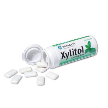 Xylitol žvečilni gumi s 100% xylitola z okusom peperminta, 30 žvečilnih gumijev